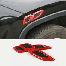 One Pair For Jeep Renegade Wrangler JK 07-16 Fender Shaped Cover Sticker ABS Auto Exterior Decoration Universal For Jeep Cars