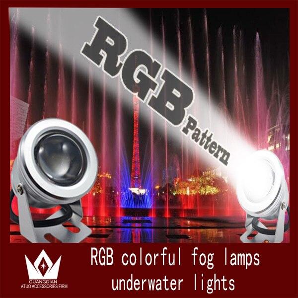 Tcart car led light Waterproof Car Fog lamp LED Work Light Underwater bulb Decoration park lamp yard high power colorful<br>