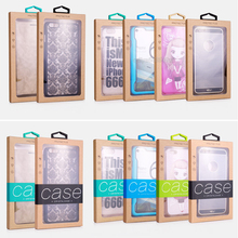 100pcs Customize LOGO High Class Kraft Paper Packaging Box with Inner Tray and Sticker for iPhone 7 7 plus for ZTE warp 7 n9519(China)