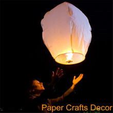 100pcs/lot Oval Shape Biodegradable Flame Resistant Paper Flying Sky Lanterns Wishing Balloon For Wedding Party Celebration