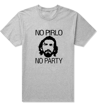 Popular Andrea Juventus NO PIRLO NO PARTY T Shirts Men Short Sleeve Pattern t-shirts Round Neck Male Tee Shirt top(China)