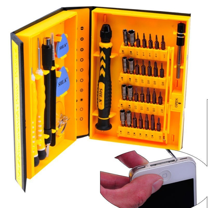 38 in 1 Precision Screwdriver Set Repair Opening Box Magnetic Tools Kit for Mobile Cell Phones iPhone 4 5S 6 Laptop PC Tablet<br><br>Aliexpress