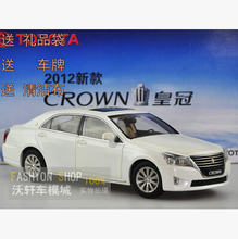 CROWN NEW 2012 TOYOTA 1:18 car model Original Simulation Japan  luxury car FAW Toyota Classic cars Thirteenth Generation