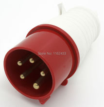 32A 3P N E 5 pin 220-380V/240-415V IP44 025L three phase splashproof industrial plug with cable sleeve(China)