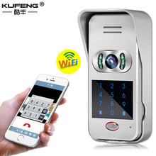 KUFENG New 2017 hot WIFI Wireless video Intercom Doorphone with camera monitor IOS Android Adaptateur TNT HD 720P Freeshipping(China)