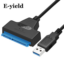 "Adapter SATA III USB 3.0 Cable External Hard Drive USB to Serial ATA 22pin Converter Hard Disk W/ UASP for 2.5"" HDD/SSD"