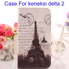 ABCTen Flip Design & Card Holder Mobile Phone PU Leather Case For keneksi Delta 2 Wallet Bags Protection Accessories
