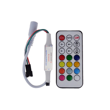 21Key DC5V WS2812 WS2812B IR LED Controller 63 Kinds Effects Led Pixel Controller For Led Strips Full Color Led controller 1PCS