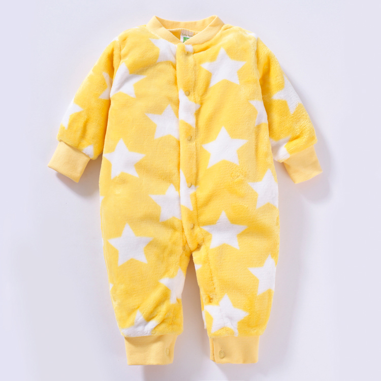 New 2017 spring autumn jumpsuits infant overalls for newborns baby clothes girls coral fleece star Romper baby costume creepers<br><br>Aliexpress
