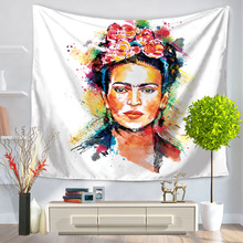 Mandala Tapestry Frida Kahlo Hippie Wall Hanging Tapestries Bedspread Beach Towel Yoga Mat Blanket Table Cloth 200*150/150*130cm