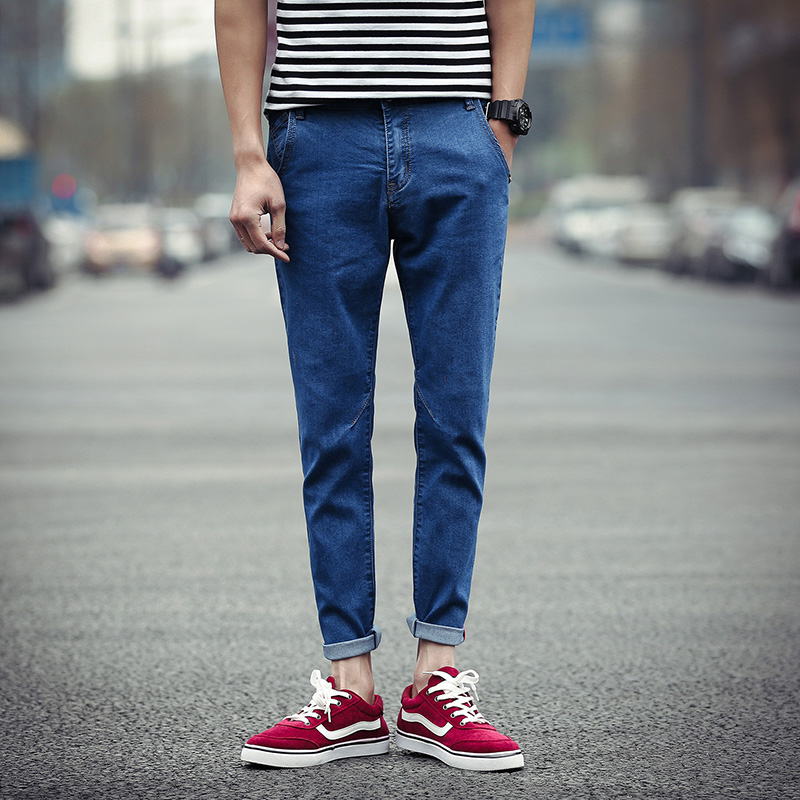 Mens jeans 2017 spring and autumn high-quality mens casual long jeans plus small yards 28-40 2-color hot sellОдежда и ак�е��уары<br><br><br>Aliexpress