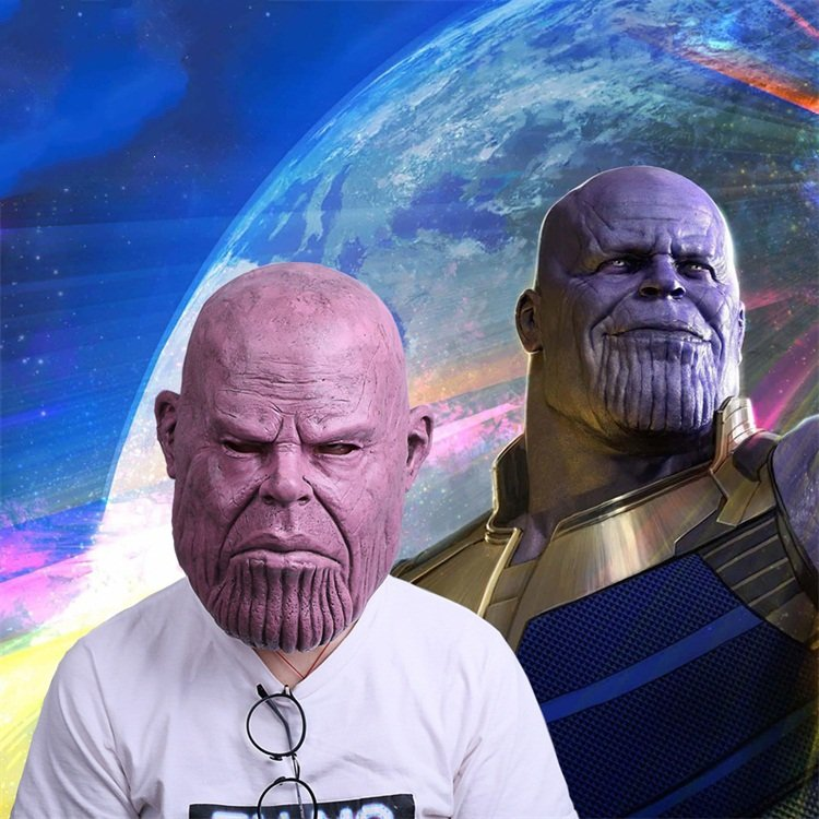Thanos Cosplay Mask & Gauntlet Take Control of Your Infinity Saga Universe 7