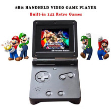 New GB Station Light boy SP PVP Handheld Game Player 8-Bit Game Console with Bulit-in 142 Games Retro Style for Gaming(China)