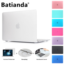 Matte Case New Air 11 13 Pro 13 15 Touch bar 2016 New Retina 12 13 15'' for macbook Keyboard Cover+Screen Protector