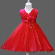 Girl Wedding Dress 2017 Princess Girls Clothes Children Formal Dress Girls Flowers Dresses For Ceremonious Party Costume