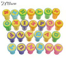 26Pcs/pack Cute Cartoon Rubber Stamps 26 Letters Self Inking Rubber Stamps Set for Scrapbooking Decor Arts Gifs Toys for kid(China)