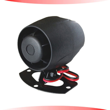 car alarm siren,electronic sound car siren,108dbs.12v,20w,6tone.positive/negative connection,small car security siren,free ship