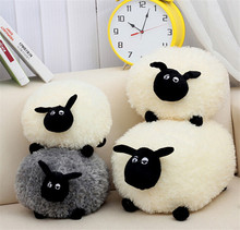Candice guo! cute plush toy cartoon fat sheep ball couple lamb white gray creative lovers children birthday Christmas gift 1pc