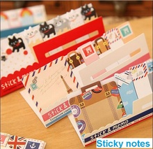 1pcs/lot NEW vintage travel London&Paris sticky notepad Post it stickers Memo  marker paper zakka office School supplies