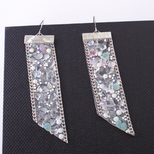 Retro Punk New Fashion Earrings Personality Crystal Sequins Beads Long Tassel Wholesale Earrings Manufacturers Sales