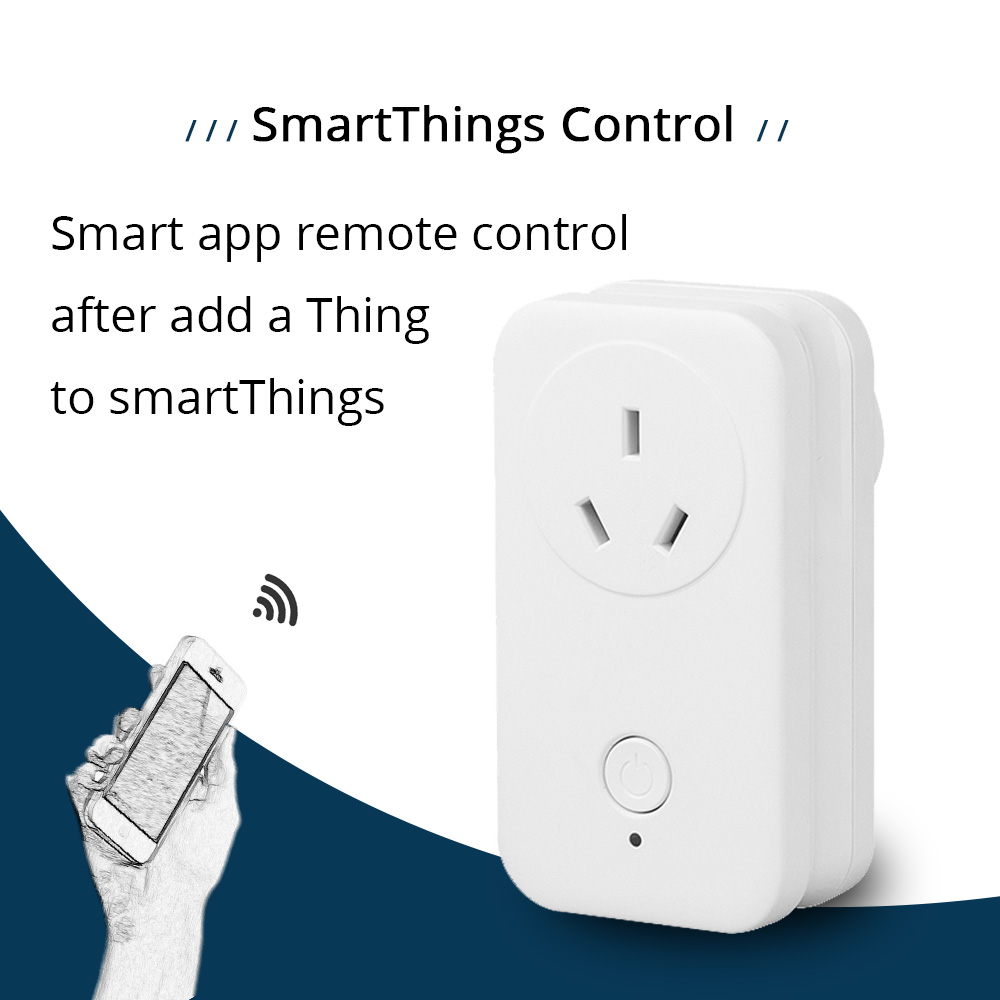 AU Outlet SamrtThings Android IOS Phone APP Remote Echo Plus Wireless Socket Zigbee 3.0 Electrical Plug Home Automation(8)