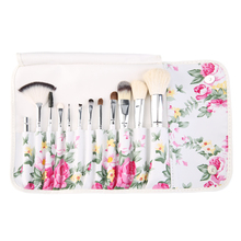 Professional 12 Pieces Makeup Brush Set tools Make-up Toiletry Kit Wool Brand Make Up Brush Set Case Cosmetic Brush Fashion