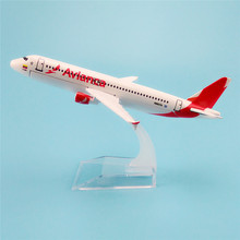 16cm Metal Aircraft Plane Model Air Avianca A320 Airways Airbus 320 Airlines Airplane Model w Stand  Gift