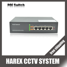 5 port switch with 4 ports PoE ( 9 port switch with 8 ports PoE)  Switch 10/100mbps IEEE802.3af Standard for IP camera