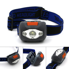 Powerful Mini LED Headlamp 4 Mode Energy Saving Outdoor Head light 1*White+2*Red LED Sports Camping Fishing Head Lamp Headlight