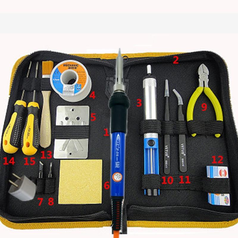Adjustable Temperature Solder Soldering Iron 50W 220V Welding Rework Repair Tools Kit With Solder Tip Desoldering Pump<br>