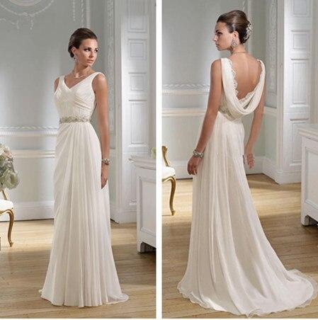 Платья в греческом стиле спина
