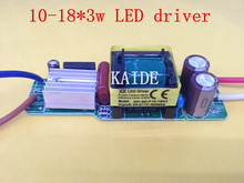 2pieces 10-18*3w LED driver bare board led power supply input AC85-277V output DC30-60V 600ma PF>0.95 efficiency90%