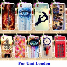 Soft TPU Phone Case For Umi London Smartphone MT6580 Cover DreamCatcher Telephone Booth Letters Housing Bag For Umi London Shell