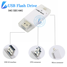 LL TRADER Pendrive Stick OTG USB For iOS iPhone Flash Drive Memory iPad iMac Android Devices Storage Mini USB 2.0 64GB 32GB 16GB(China)