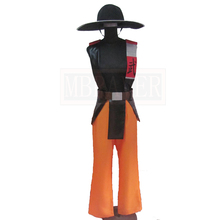 Mortal Kombat 3 Kung Lao Cosplay Costume Custom Made Any Size(China)