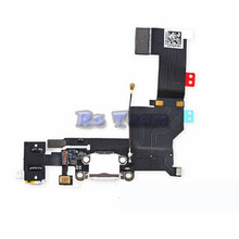 Hot Sale 100% Original Black Or White Charger Dock USB Charging Port Plug Flex Cable For Iphone 5S With Headphone Jack Version