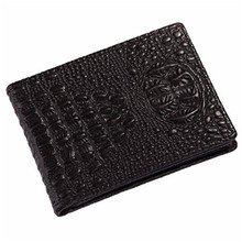 Men Women wallet leather Crocodile Credit Card Holder magic PU Leather Vintage coin purse solid color luxury brand wallets(China)