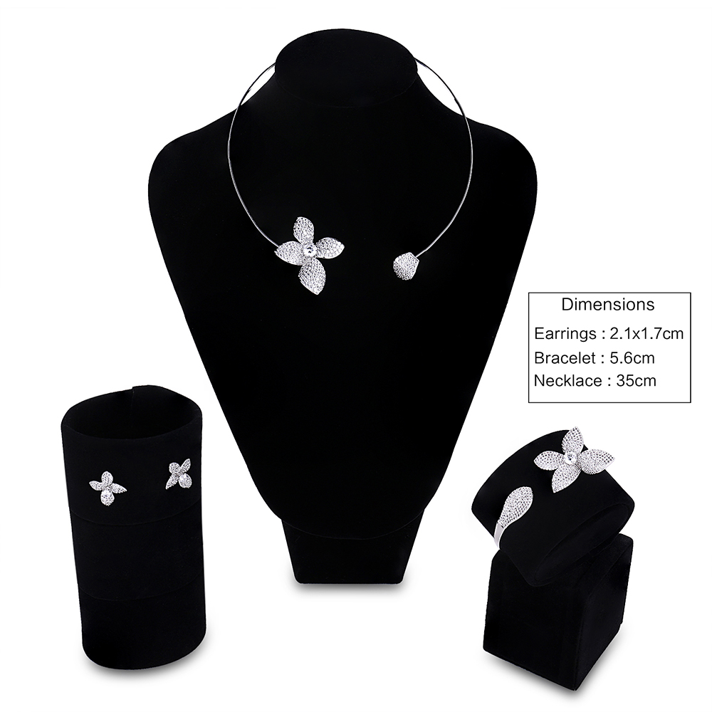 flower jewelry sets for Bridesmaid (1)