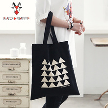 Raged Sheep Fashion Cotton Grocery Tote Shopping Bags Folding Triangle Print Shopping Cart Eco Grab Bag
