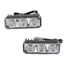 Tonewan Good car styling Waterproof Car High Power Aluminum LED Daytime Running Lights with Lens DC12v  White 1set DRL