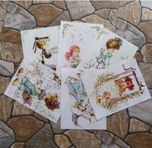 Garden princess Girl Digital Printing Painting Hand Dyed Fabric DIY Sewing Patchwork Fabric Cloth Scrapbooking for Purse Bag(China)
