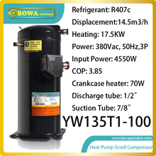 three phase 5HP R407c compressor (18KW heating capacity)  designed specially for heat pump water heater
