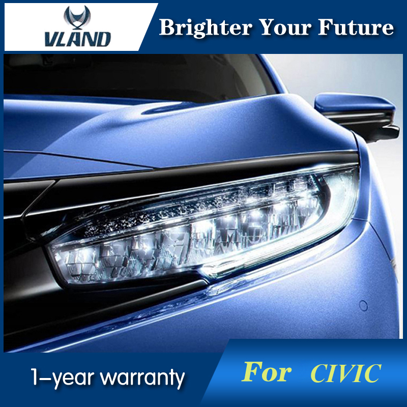 For Honda Civic 2015-2017 Headlights Head Lamp DRL...