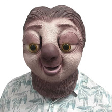 For Zootopia Sloth Flash Full Face Mask For Halloween Gifts Eco-friendly  Nature Latex Funny Mask For Cosplay  Party Dress up