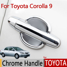 for TOYOTA Corolla E120 E130 (2000-2006)  Levin Luxurious Chrome Door Handle Car Covers Accessories Car Stickers Car Styling