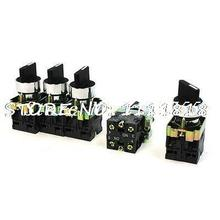 10A 600V Latching 4 Terminal 3 Position DPST 2N/O Rotary Selector Switch 5 PCS(China)
