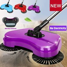 Spin Home Hand Push Broom Household Floor Dust Cleaning Cleaner Sweeper Mop colorful Brooms No Electricity