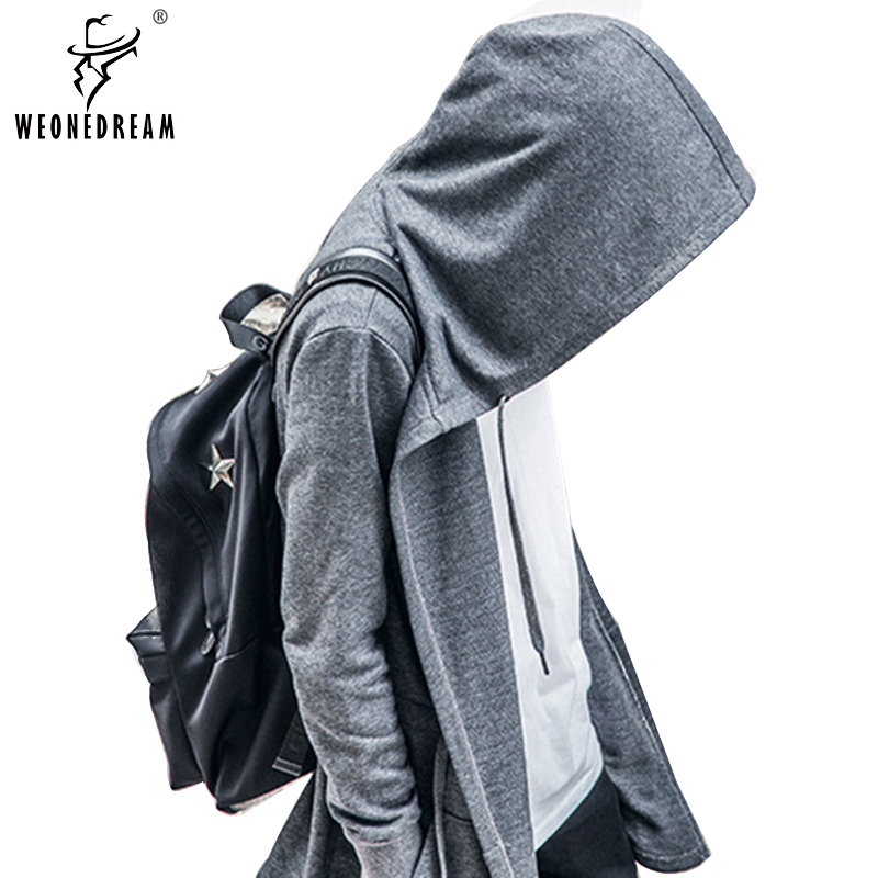 2017 European Men Hoodies Hip Hop Black&Gray Sweatshirts Cardigan Sweatshirts Tyga wear Outerwear