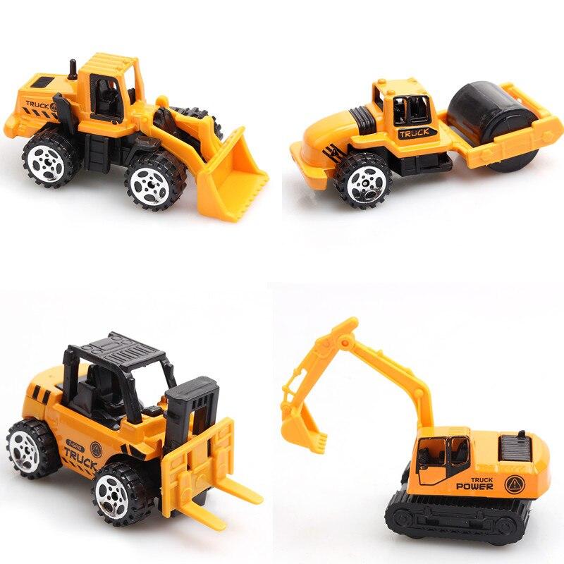 4Pcs/Set Children's Toys Plastic Excavator Tractor...