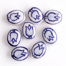 11x14mm 10pcs/lot Porcelain Beads Ceramic Beads Oval Beads For Jewelry Making China Charms Bracelet DIY Jewelry Findings
